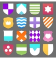 Set of colorful shields vector image