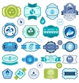 Set of water labels badges and stickers vector image
