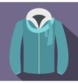 Winter jacket icon flat style vector image