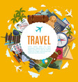 Travel tourism label with attractions vector image