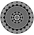 celtic mandala in black and white vector image