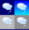 thinking bubbles white cloud transparent element vector image vector image
