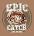 EPIC AMERICAN FOOTBALL vector image vector image