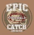 EPIC AMERICAN FOOTBALL vector image