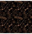 Festive decoration pumpkins vector image