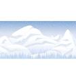 Snow mountain landscape vector image
