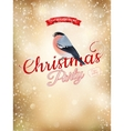 Christmas typography poster on gold bokeh EPS 10 vector image vector image