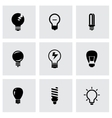 black bulbs icon set vector image