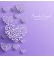 ornamental decorative heart background vector image
