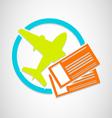 Air Tickets vector image vector image