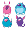 Furry monsters vector image