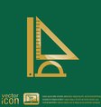 Ruler protractor triangle Symbol of geometry and vector image
