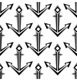 Stylized nautical anchors seamless pattern vector image
