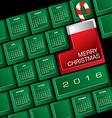 2016 Creative Keyboard Christmas Calendar vector image vector image