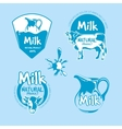 Milk and dairy farm product logo set vector image