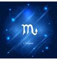 Scorpio sign of the zodiac vector image vector image