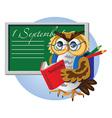 bird owl student vector image
