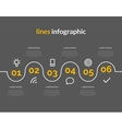 Infographic with circles pointers 6 steps vector image