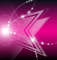 abstract star explosion background vector image