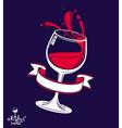Alcohol theme art 3d realistic wine goblet vector image