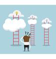 businessman confused for choose ladder vector image