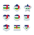 central african republic flags icons and button vector image