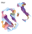 Design Map of Italy background vector image