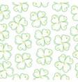 lucky clover field vector image