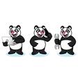 Panda Mascot with laptop vector image