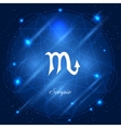 Scorpio sign of the zodiac vector image