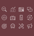 seo smm development marketing icon set vector image