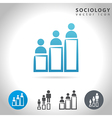 sociology icon set vector image