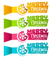 Christmas Banners with Snowflakes vector image vector image