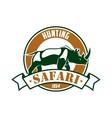 Hunting safari adventure club sign vector image