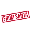 From Santa rubber stamp vector image