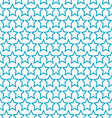 seamless blue star pattern background vector image vector image