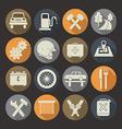 Auto service icons set Colors plate vector image