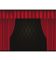 tre curtain vector image vector image