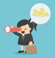 Businesswoman Looking for success vector image vector image