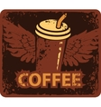 coffee cup with wings vector image