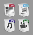 Icons of files Collection vector image