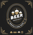 Vintage beer and beverage frame design vector image vector image