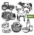 Organic Farm Set vector image
