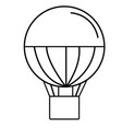 air baloon icon vector image