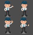 Man Business Cartoon Set vector image