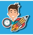 man idea icon vector image