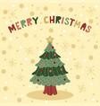 merry christmas tree vector image