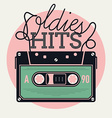 Oldie Hits Audio Tape Icon vector image