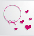 pink frame and hearts vector image