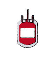 Plastic bag blood transfusion donation care vector image